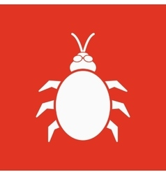 The beetle and bug icon acarid insect virus vector