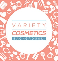 Variety cosmetics background vector