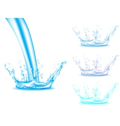 Water splash vector