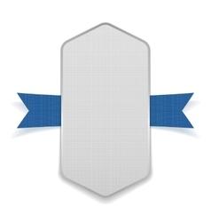 White festive banner on blue ribbon vector