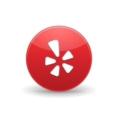 Yelp icon simple style vector