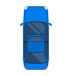 Car top view isolated vector
