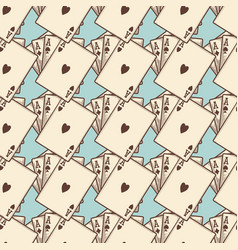 Vintage cards seamless pattern vector