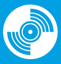Gramophone vinyl lp record icon white vector