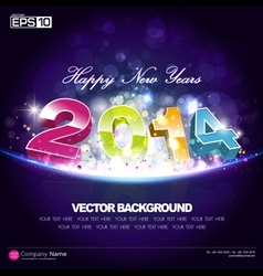 Happy new year 2014 background desing vector