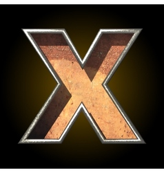 Old metal letter x vector