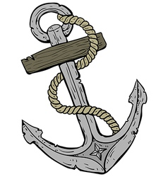Marine theme anchor vector