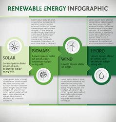 Infographic renewable vector