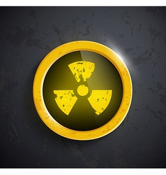 Button with the sign of the radioactivity vector