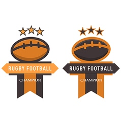 Rugby football badge vector