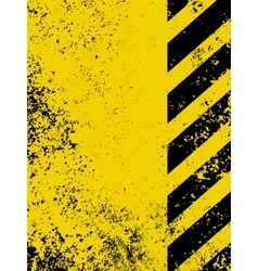grungy hazard strip vector image