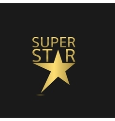 Super star logo vector