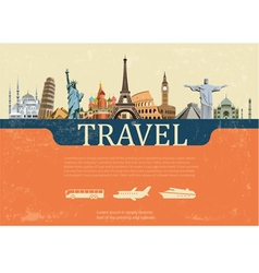 Design concept of travel world landmarks vector