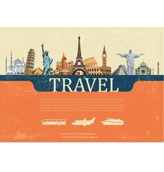 Design Concept of Travel World Landmarks vector image