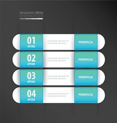 Banner template neon blue vector