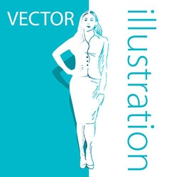 Background with business woman vector