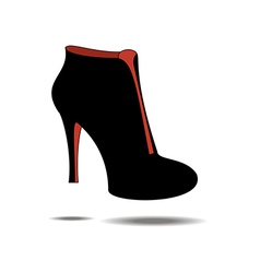 Ankle boots shoes vector