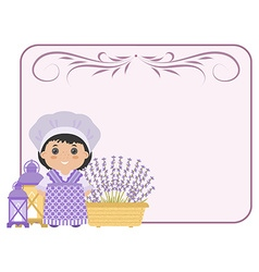 Photo frame in the style of provence vector