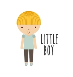 Boy icon kid and cute people design vector