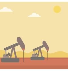 Background of oil derrick vector