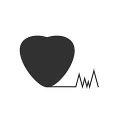 Black icon on white background heart with cardio vector