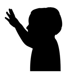 Boy greeting silhouette vector
