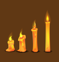 candle frame burn collection set vector image vector image