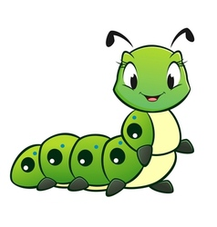 Cartoon Caterpillar vector image