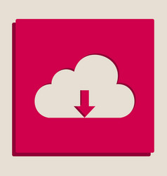 Cloud technology sign grayscale version vector