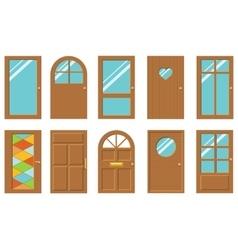 Doors set vector