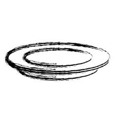 Empty white plate kitchen utensil icon vector