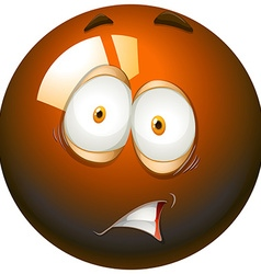 Fearful facial expression emoticon vector