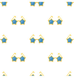 Glasses with starsfans single icon in cartoon vector