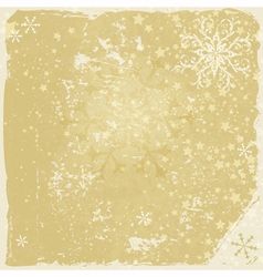 Grungy christmas frame vector image vector image