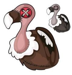 Handmade soft toy vulture bird vector image vector image