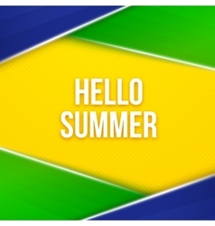 Hello summer Geometric background vector image vector image