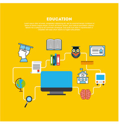 Icons set graduate vector