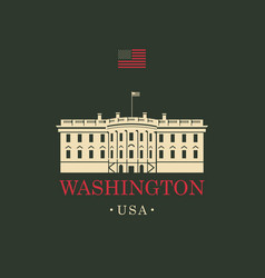 Image us white house in washington dc vector