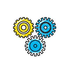 Industry gears to process engineering vector