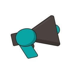 Isolated megaphone device design vector image