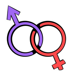 Male and female signs icon icon cartoon vector