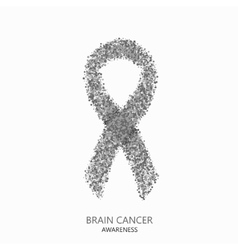 Modern brain cancer awareness circles vector