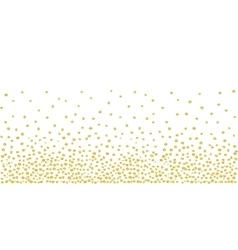 Random falling golden dots background vector