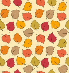 Seamless Texture of Autumn Leaves Bright vector image