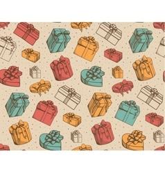 Sketch present boxes vector image