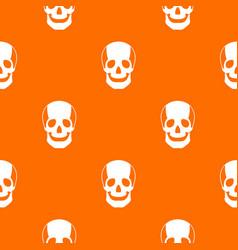 skull pattern seamless vector image vector image