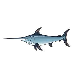 Swordfish pop art vector