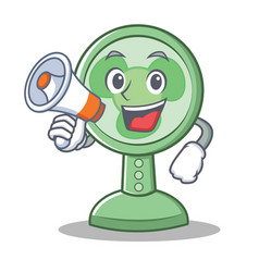 with megaphone fan character cartoon style vector image