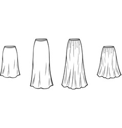 Womens skirt vector