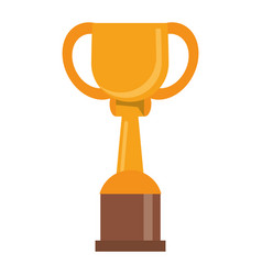 Trophy winner award golden vector